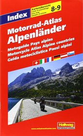 KRAJE ALPEJSKIE atlas dla motocyklistów 1:275 000 HALLWAG