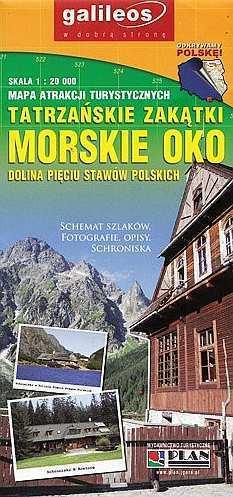 MORSKIE OKO mapa 1:20 000 PLAN