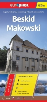 BESKID MAKOWSKI mapa turystyczna plastik 1:90 000 EUROPILOT