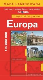 EUROPA mapa samochodowa plastik 1:4 000 000 EUROPILOT