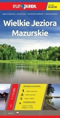 WIELKIE JEZIORA MAZURSKIE mapa turystyczna plastik 1:110 000 EUROPILOT