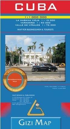 KUBA mapa geograficzna  1:1 000 000 (Cuba Geografical) GIZIMAP
