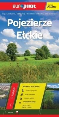 POJEZIERZE EŁCKIE mapa turystyczna plastik 1:110 000 EUROPILOT