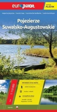 POJEZIERZE SUWALSKO - AUGUSTOWSKIE mapa turystyczna plastik 1:110 000 EUROPILOT