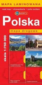POLSKA mapa samochodowa plastik 1:750 000 EUROPILOT