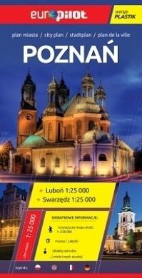 POZNAŃ LUBOŃ SWARZĘDZ laminowany plan miasta 1:25 000 EUROPILOT
