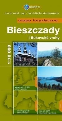 BIESZCZADY i Bukovske vrchy mapa turystyczna 1:70 000 DAUNPOL