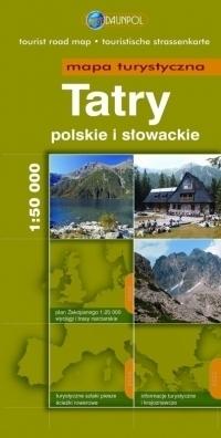 TATRY polskie i słowackie mapa turystyczna 1:50 000 DAUNPOL