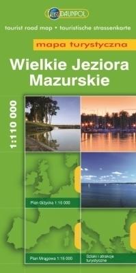 WIELKIE JEZIORA MAZURSKIE mapa turystyczna 1:110 000 EUROPILOT