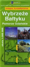 WYBRZEŻE BAŁTYKU Pomorze Gdańskie mapa turystyczna 1:300 000 DAUNPOL