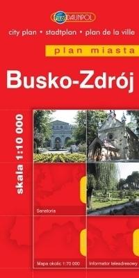 BUSKO-ZDRÓJ plan miasta 1:10 000 DAUNPOL