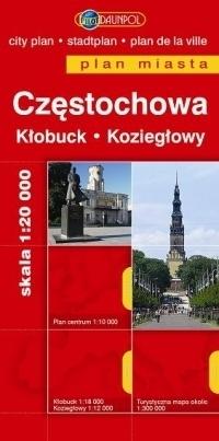 CZĘSTOCHOWA plan miasta 1:20 000 EUROPILOT