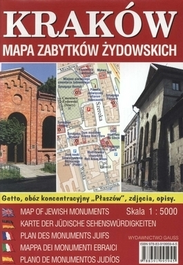 KRAKÓW mapa zabytków żydowskich 1:4 000 GAUSS