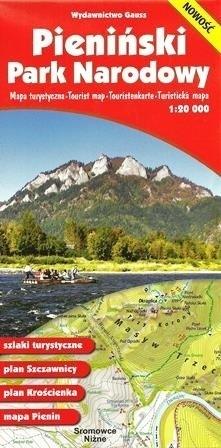 PIENIŃSKI PARK NARODOWY mapa turystyczna 1:20 000 GAUSS