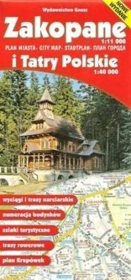 ZAKOPANE I TATRY POLSKIE mapa turystyczna wodoodporna 1:40 000 GAUSS