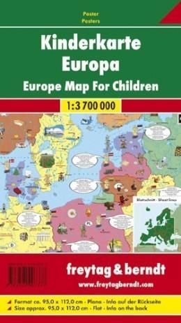 EUROPA DLA DZIECI mapa ścienna 1:3 700 000 FREYTAG&BERNDT