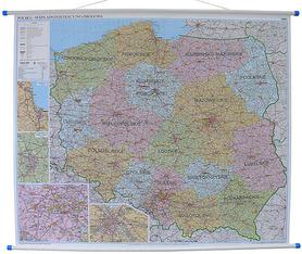 POLSKA mapa ścienna kody pocztowe 1:700 000 EKOGRAF 2015