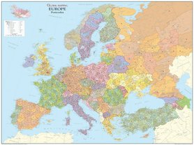 EUROPA mapa ścienna kody pocztowe 1:4 250 000 GLOBAL MAPPING