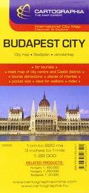 BUDAPESZT plan miasta 1:22 000 CARTOGRAPHIA