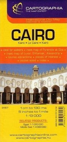 KAIR CAIRO plan miasta 1:13 000 CARTOGRAPHIA