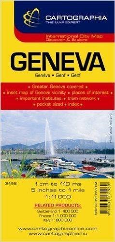 GENEWA GENEVA plan miasta CARTOGRAPHIA