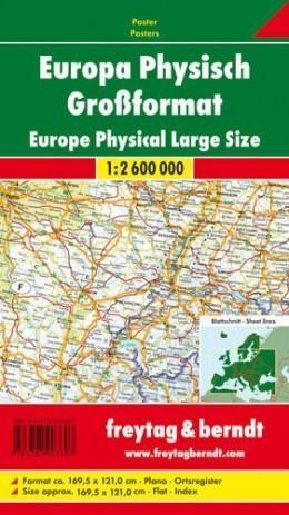 EUROPA FIZYCZNA mapa ścienna 1:2 600 000 FREYTAG&BERNDT