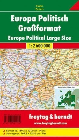 EUROPA POLITYCZNA mapa ścienna 1:2 600 000 FREYTAG&BERNDT