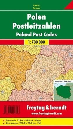 POLSKA KODY POCZTOWE mapa ścienna 1:700 000 FREYTAG&BERNDT