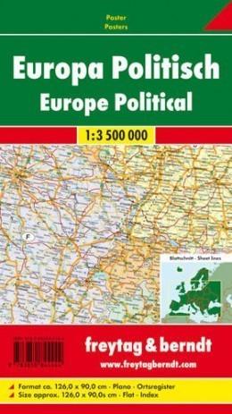 EUROPA POLITYCZNA mapa ścienna 1:3 500 000 FREYTAG&BERNDT