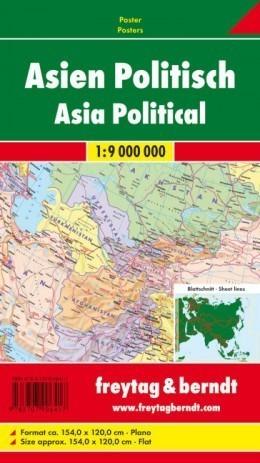 AZJA POLITYCZNA mapa ścienna 1:9 000 000 FREYTAG&BERNDT