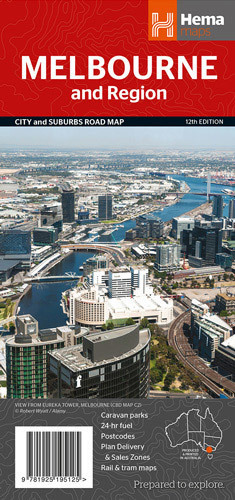 MELBOURNE i okolice mapa samochodowa HEMA