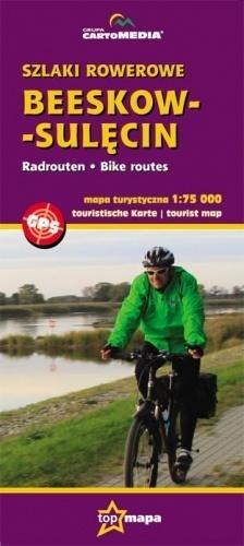 BEESKOW - SULĘCIN szlaki rowerowe mapa 1:75 000 CARTOMEDIA