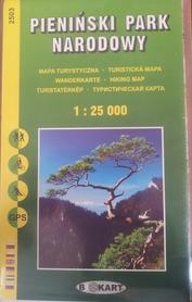 PIENIŃSKI PARK NARODOWY mapa turystyczna 1:25 000 wer. pol.  TATRAPLAN