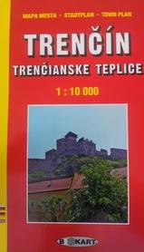 TRENCIN - TRENCIANSKE TEPLICE 1:10 000 plan miasta TATRAPLAN