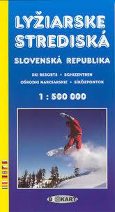 SŁOWACJA Ośrodki narciarskie mapa 1:500 000 TATRAPLAN