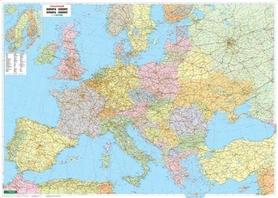 EUROPA POLITYCZNA mapa ścienna tablica w metalowej ramie 1:3 500 000 FREYTAG & BERNDT