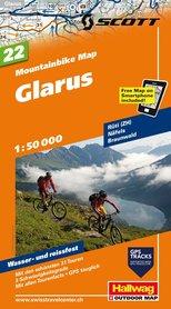 GLARUS wodoodporna mapa rowerowa 1:50 000 Hallwag