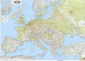 EUROPA FIZYCZNA mapa ścienna tablica w metalowej ramie 1:3 500 000 FREYTAG & BERNDT