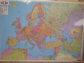 EUROPA mapa ścienna tablica w metalowej ramie 1:5 500 000 FREYTAG & BERNDT