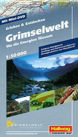 GRIMSELWELT wodoodporna mapa turystyczna 1:50 000 Hallwag