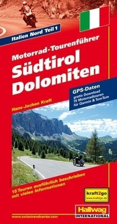 POŁUDNIOWY TYROL DOLOMITY przewodnik dla motocyklistów HALLWAG