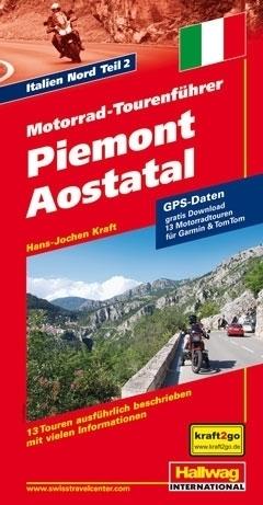 PIEMONT AOSTATAL przewodnik dla motocyklistów HALLWAG