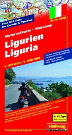 LIGURIA mapa dla motocyklistów HALLWAG