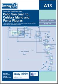 A13 Cabo San Juan to Culebra Is - Punta Figuras mapa morska 1:116 700 IMRAY