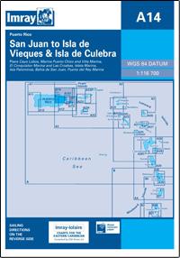 A14 San Juan to Isla de Vieques - Isla de Culebra mapa morska 1:116 700 IMRAY