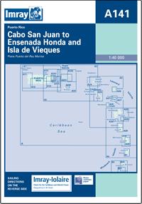 A141 Cabo San Juan to Ensenada Honda - Isla de Vieques mapa morska 1:40 000 IMRAY