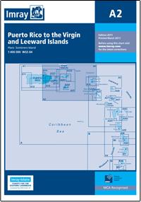 A2 Puerto Rico - St Christopher mapa morska 1:400 000 IMRAY