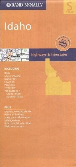 IDAHO mapa samochodowa RAND McNALLY USA
