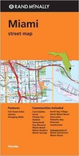 MIAMI  mapa samochodowa RAND McNALLY USA