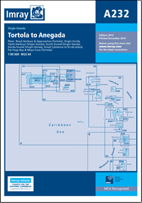 A232 Virgin Islands Tortola - Anegada mapa morska 1:90 000 IMRAY
